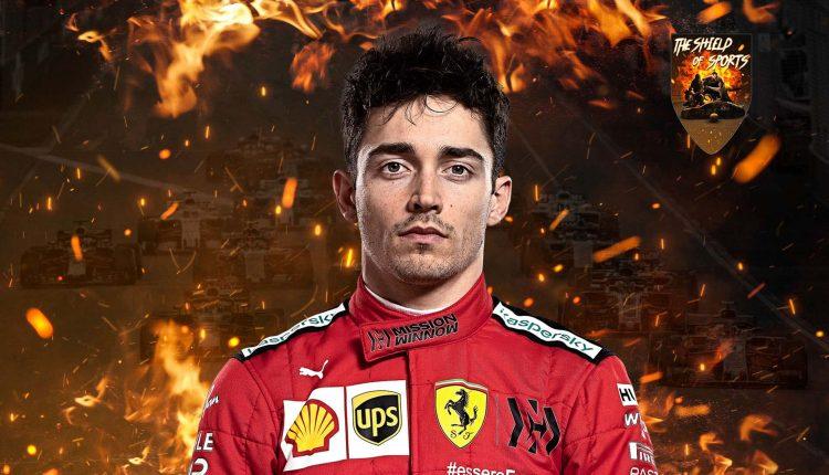 Charles Leclerc testa i nuovi pneumatici Pirelli