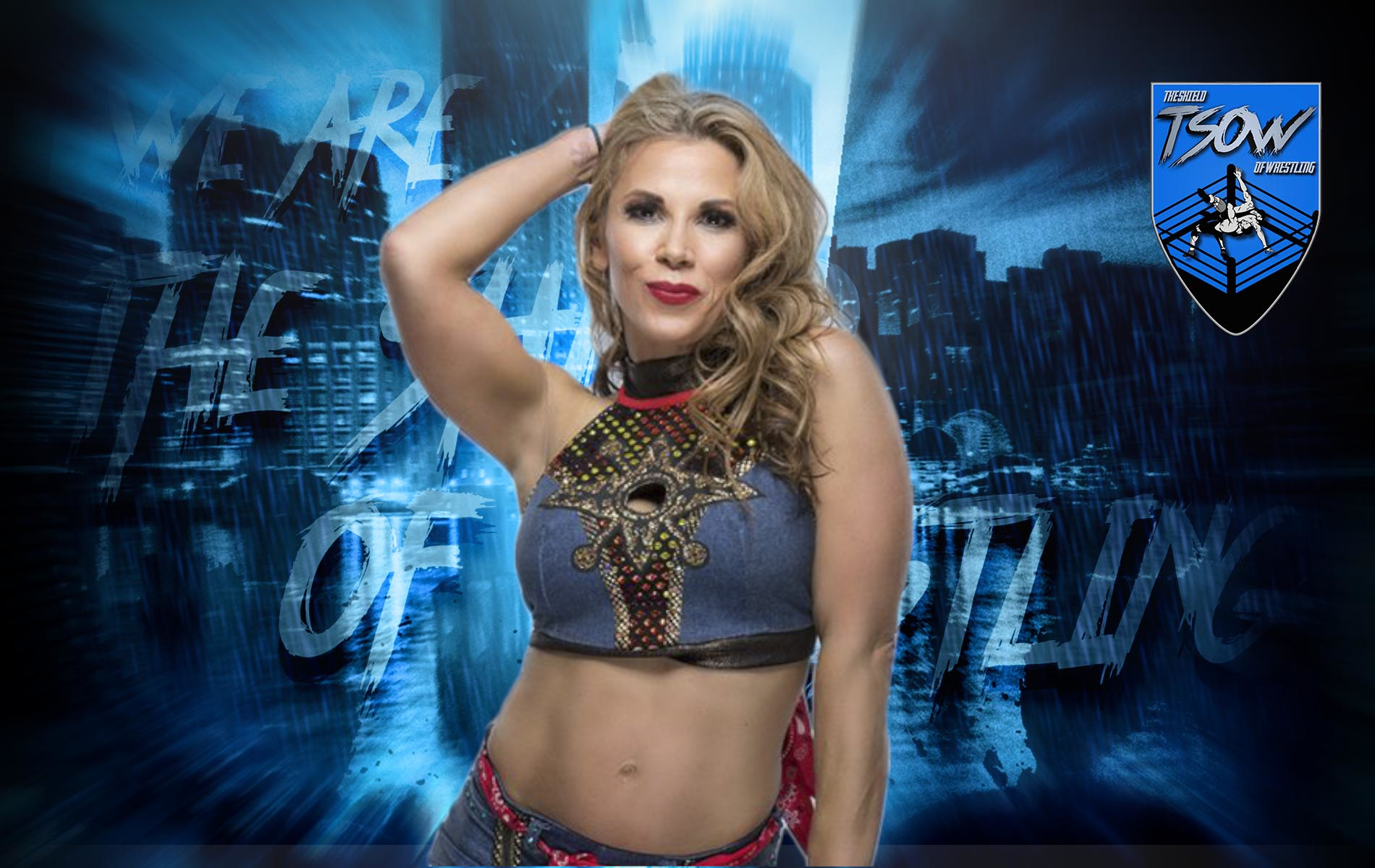 Mickie James al commento durante NXT TakeOver