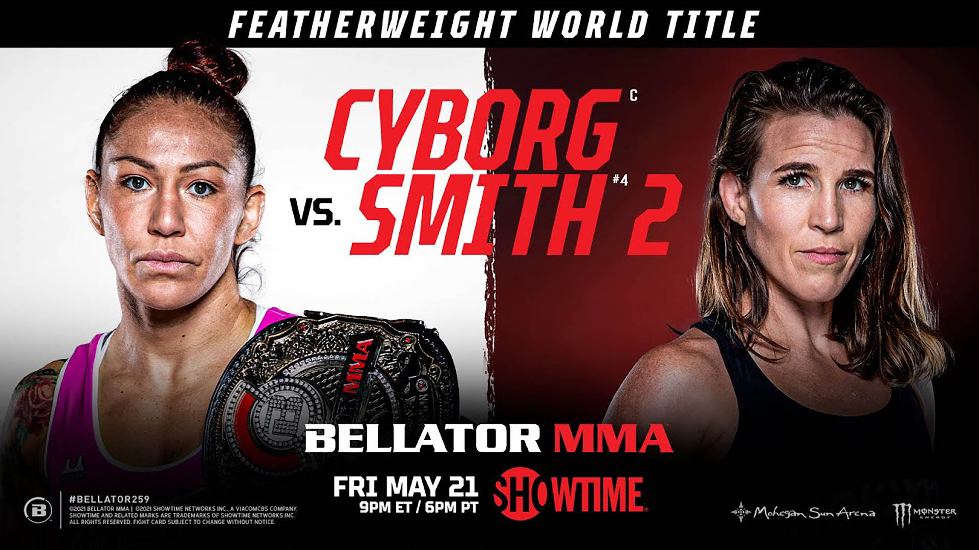 Cris Cyborg vs. Leslie Smith 2 a Bellator 259