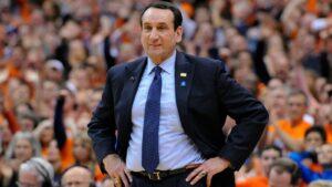Mike Krzyzewski in azione come head coach di Duke University